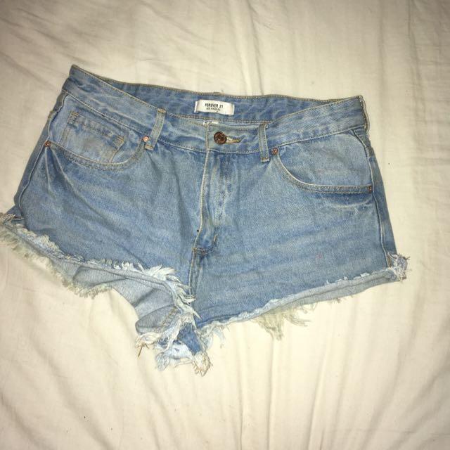 Forever 21 Denim Cut-Off Shorts