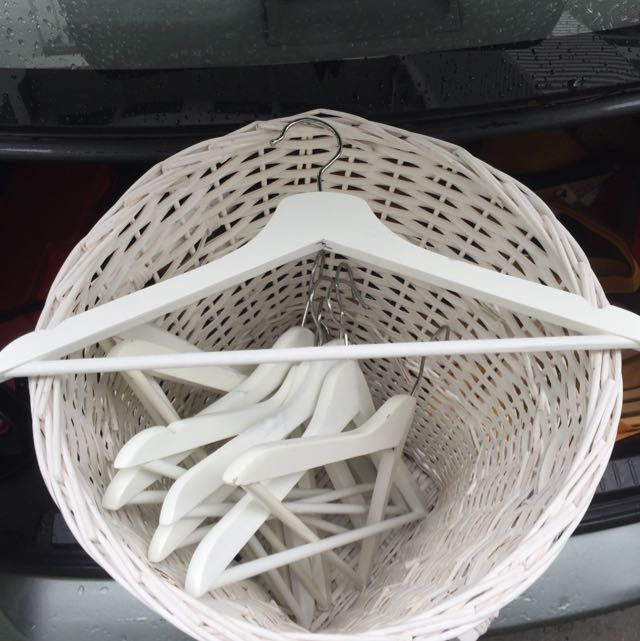 Give Away Hangers and Rattan Basket