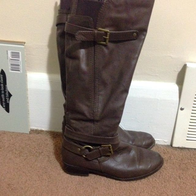 High Brown Spring Boots