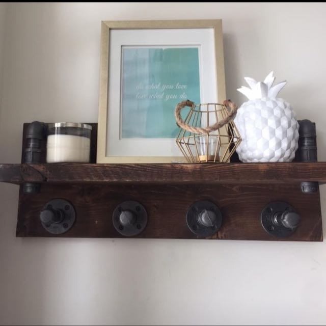 Industrial Style Coat Rack