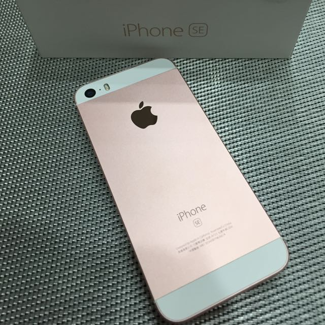 iPhone SE 64g 玫瑰金 保固到八月