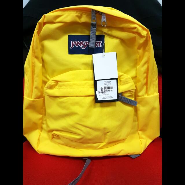 Jansport Superbreak Original 100% Yellow Card Polos