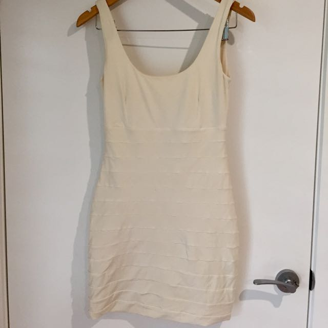 Kookai Ivory Lycra Dress, Short