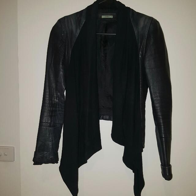 Kookai Leather Jacket, Size 6-10