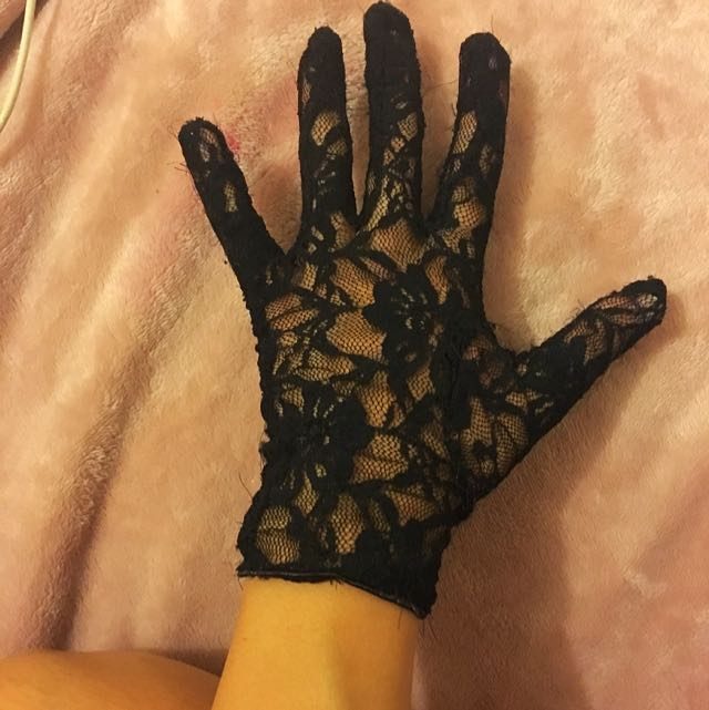 Lace Black Gloves From Forever New
