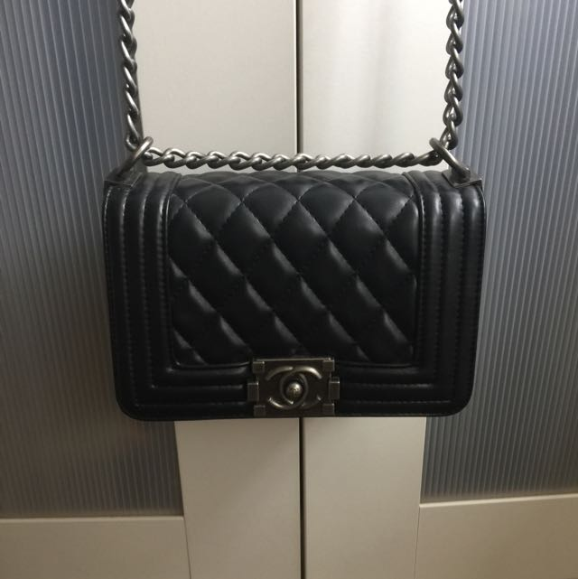 Lambskin Chanel Le Boy Bag (small Size)