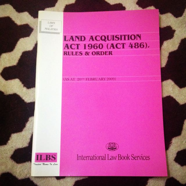Land Acquisition Act 1960 Books Stationery Books On Carousell