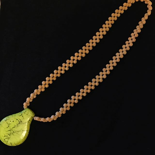 Large Yellow Pendant Necklace