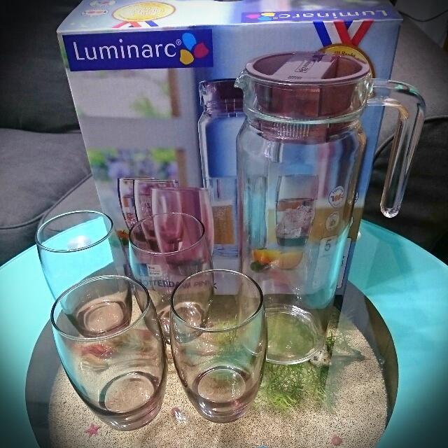 【全新】法國Luminarc樂美雅玻璃冷水壺組