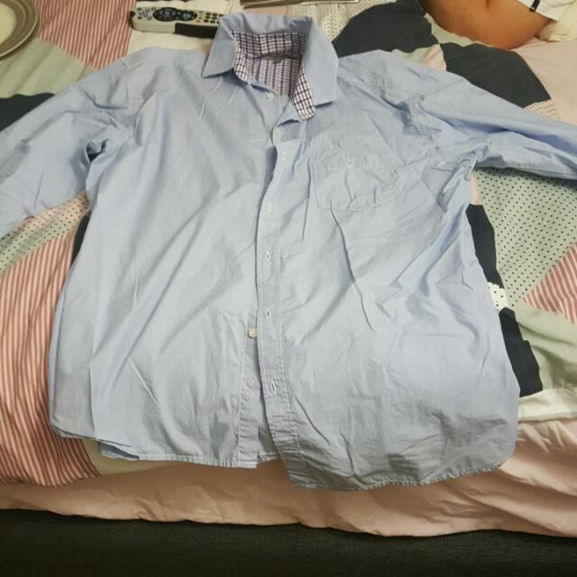 Men's Brothers Blue Business Shirt