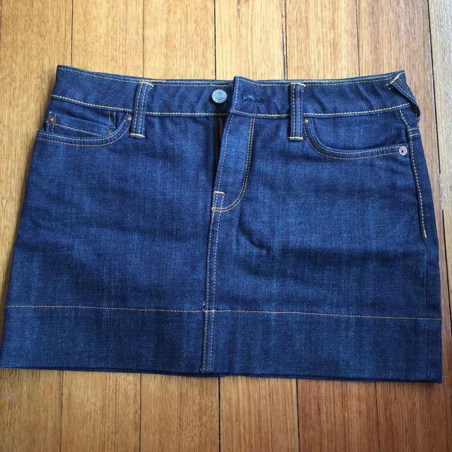 New Evisu Denim Mini Skirt (size 26)