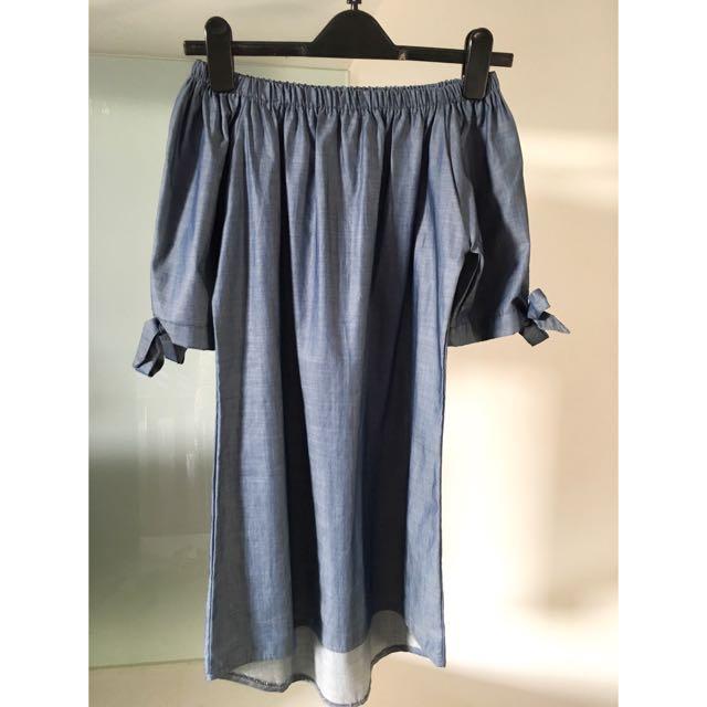 Off Shoulder Denim Dress/Top