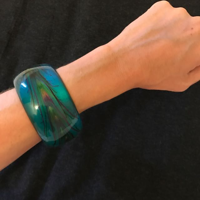 Peacock Blue/ Green / Purple Bangle