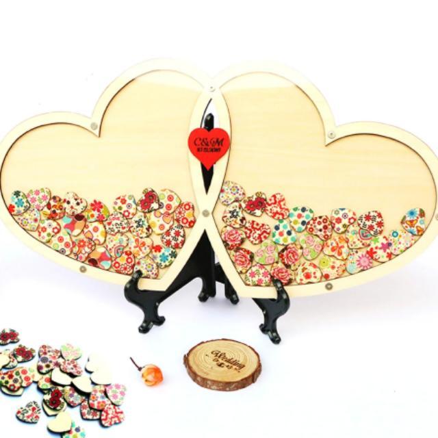 Wedding Guest Book Wood Design Craft Handmade Craft On Carousell