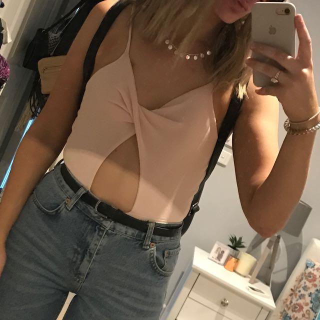 Pink Twist Body Suit
