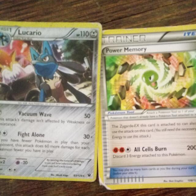 Pokemon Cards - Lucario& Power Memory ( Zygarde)