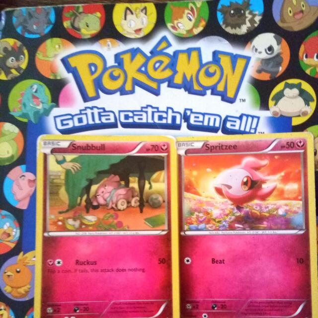 Pokemon Cards- Snubbull & Spritizee