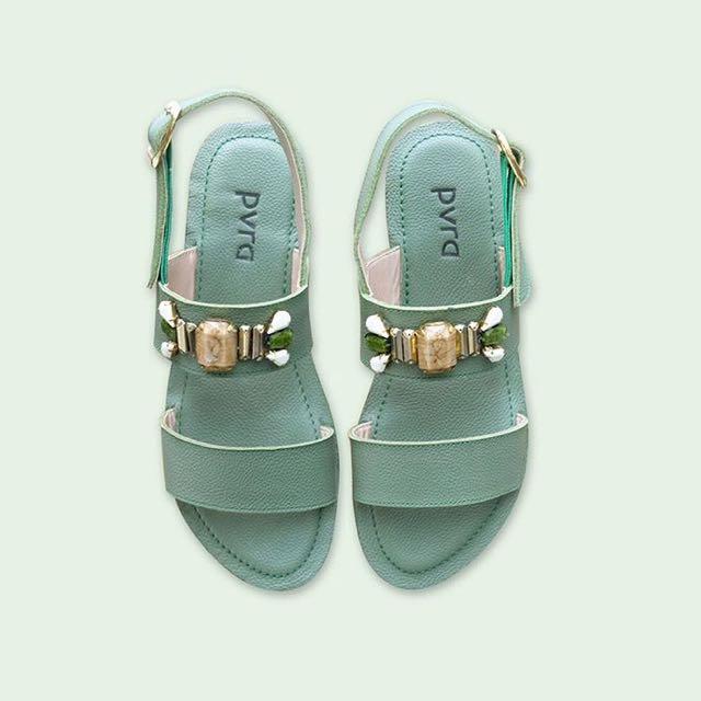 PVRA Pistachio Sandals (Like Marni)