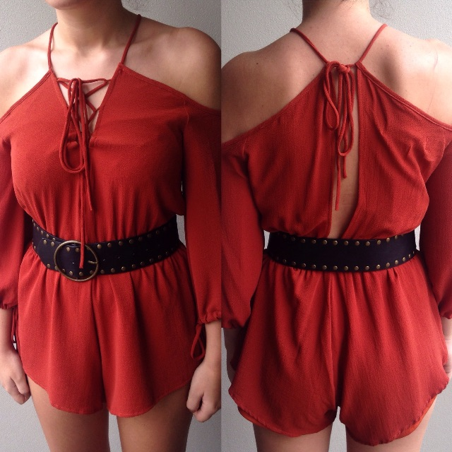 Red Playsuit $30