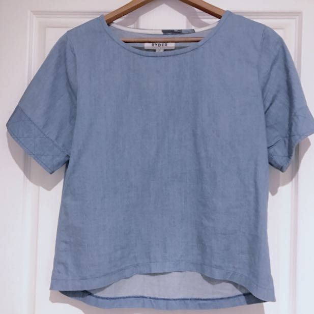 Ryder The Label Chambray Shirt, Size S