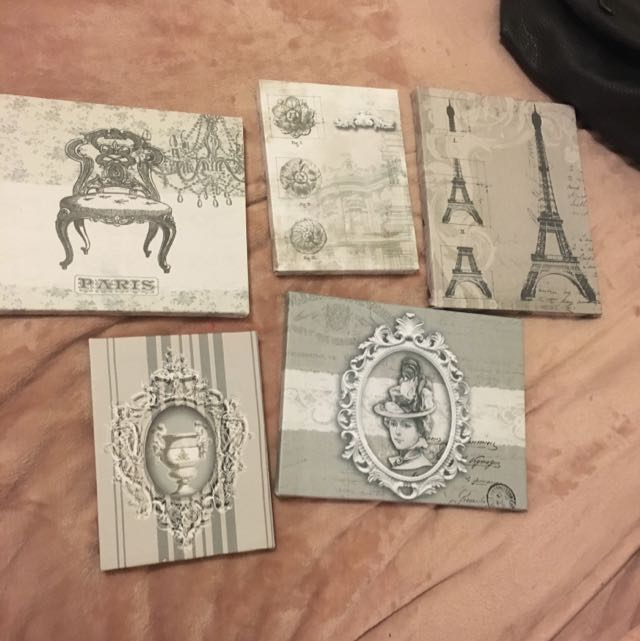 Set Of 5 Vintage Looking Canvases