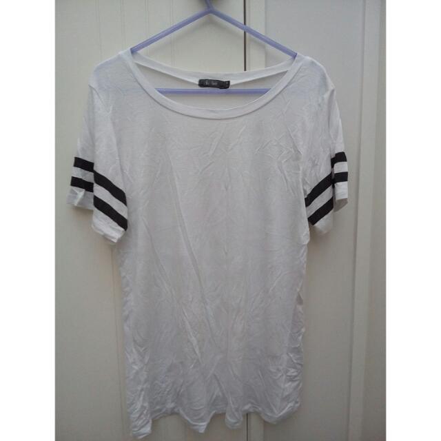 Sport stripe white Tshirt