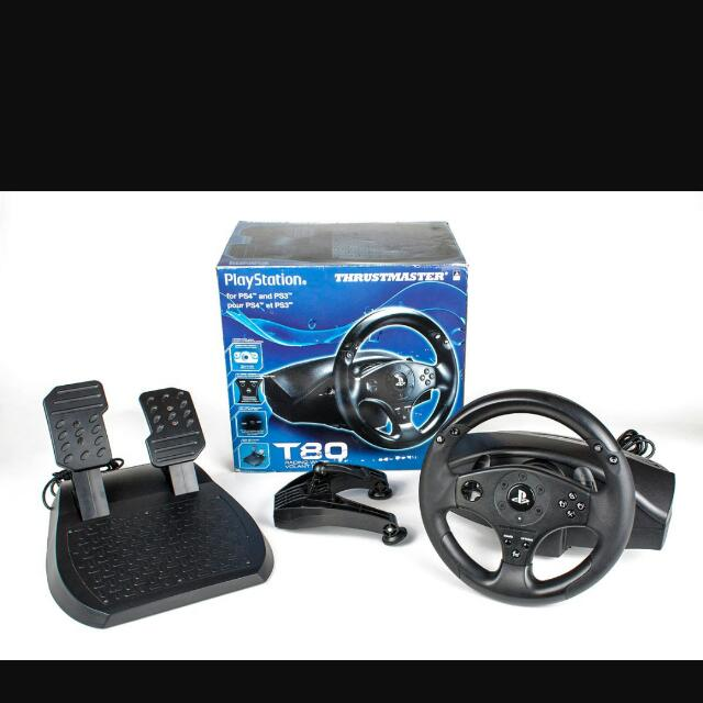 Thrustmaster T80 Steering Wheel Set For Ps4/ps3/pc With Pedals