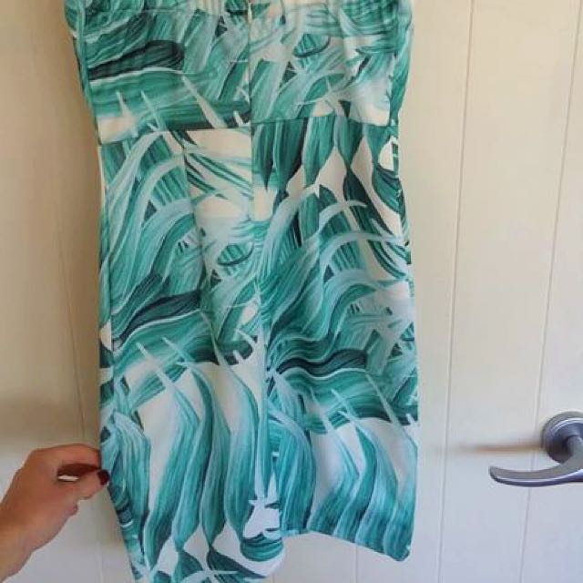 Tropical Tight Fitted Dress