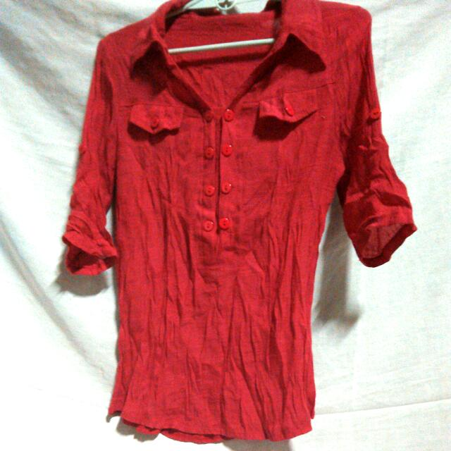 Unbranded Red. Blouse