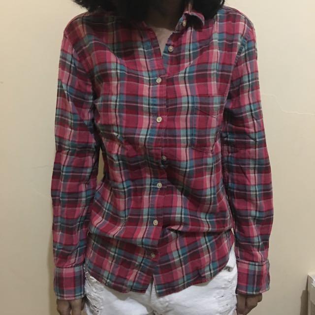-UNIQLO- Pink Checkered Shirt