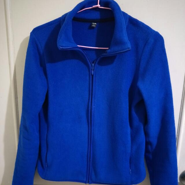 Unique 寶藍色刷毛外套(可換物)