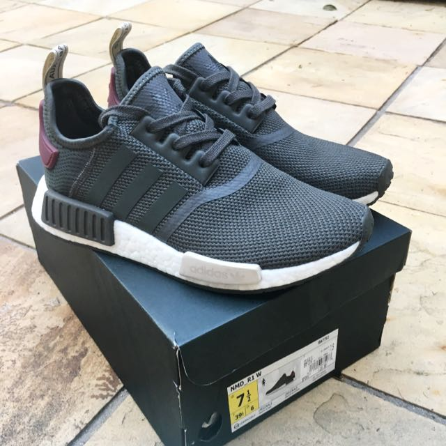 US 7.5 NMD Olive Maroon NEW