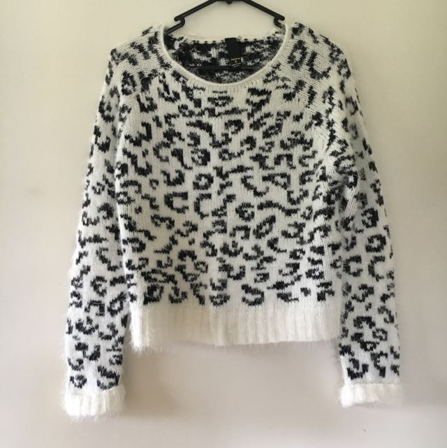 White Leopard Jumper