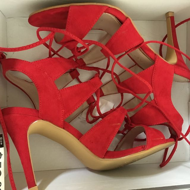 wildfire Strap Up High Heels