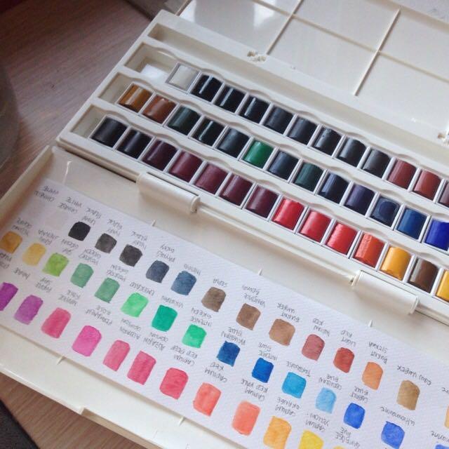 winsor newton cotman watercolour studio set 45 half pan design
