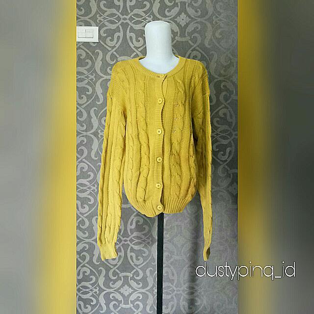 Yellow Oversized Sweater