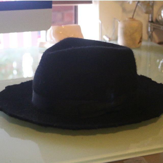 Zara Black Wide Brimmed Hat