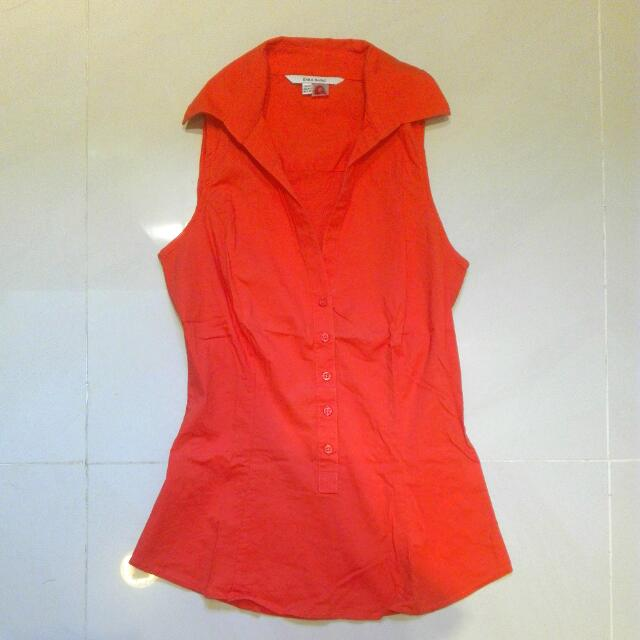 Zara Orange Shirt Top. Size XS