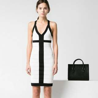 Mango Dress Bodycon Party Ala Herve Leger