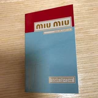 Miumiu Eau De Parfum Sample