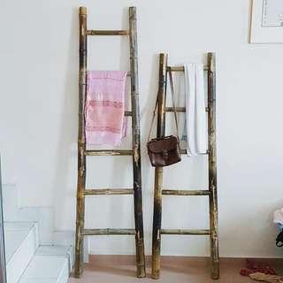 Bamboo ladder decor / shelf / furniture