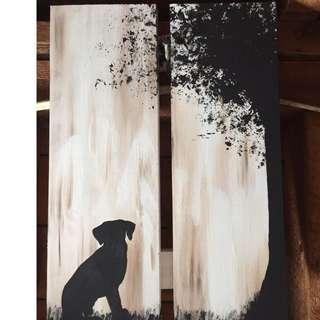 CUSTOM Silhouette on Wood.
