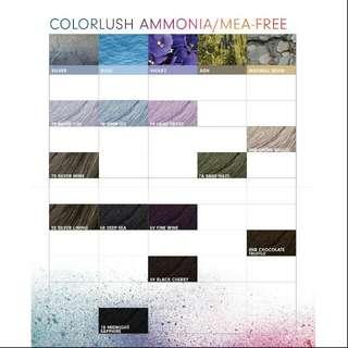 Pravana ColorLush - 27 Luscious Demi Gloss Shades Ammonia free MEA free