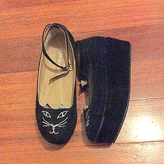Cat platform shoes