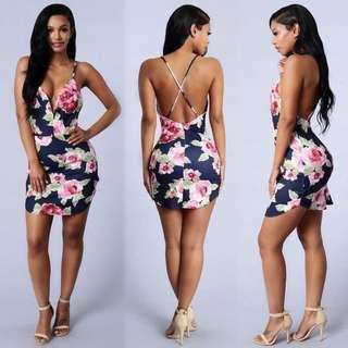 Fashion Nova Rose Garden Dress