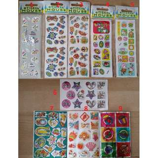 Stickers mix & match 31 designs to choose from