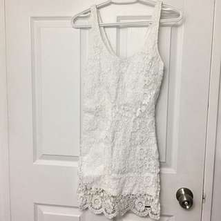 Abercrombie and finch White Lace Dress