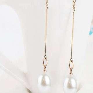 Dangling Pearl Earrings NEW