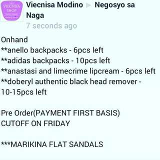 Bags, Sandals, Cosmetic