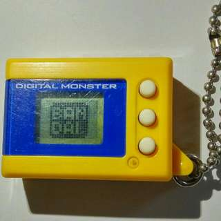 Pre-owned Bandai Digimon Mini Digital Monster Virtual Pet Version 2 Yellow Color